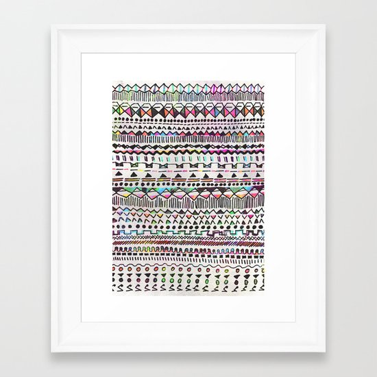Pattern mix Framed Art Print
