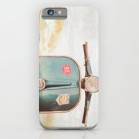 iPhone & iPod Case featuring The Blue Vespa by Hello Twiggs