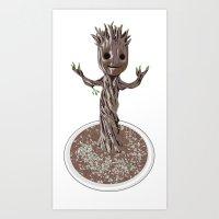 Baby Groot Art Print