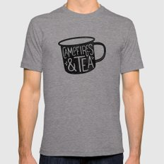 Campfires & Tea Mens Fitted Tee Tri-Grey SMALL