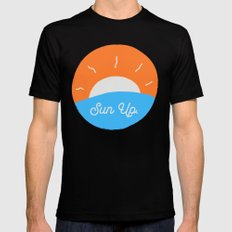 Sun Up SMALL Mens Fitted Tee Black