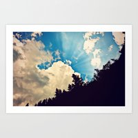 Cloud Burst Art Print