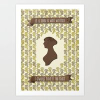 I always find Austen too short Art Print