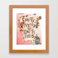 Empty Nest • Empty Mes… Framed Art Print