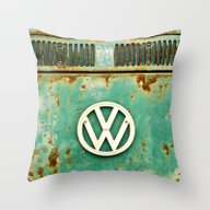 VW Retro Throw Pillow