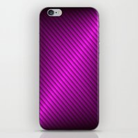 Purple Oblique Stripes iPhone & iPod Skin
