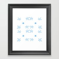 Birds Of A Feather - Swa… Framed Art Print