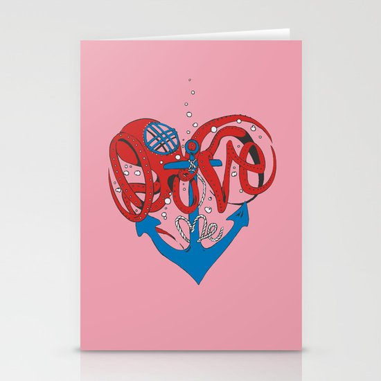 Deeply in Love Stationery Card