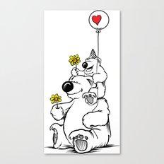 Papa Bear & Baby Bear Canvas Print
