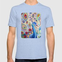 Peacock Mens Fitted Tee Tri-Blue SMALL