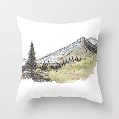 Fresh Mountain Err Throw Pillow