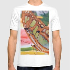 Golden Butterfly Mens Fitted Tee SMALL White