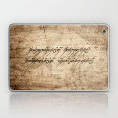 Ring Inscription Laptop & iPad Skin
