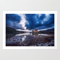 Dark Skies At Eilean Don… Art Print