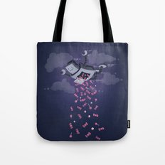 Oh, Happy Day! (on blue) Tote Bag