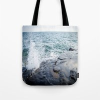 Rough waters- color  Tote Bag