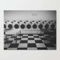 Laundromat Canvas Print