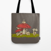 A Rainy Day at the Garden Tote Bag