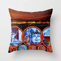 Sin City Throw Pillow