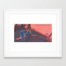POEM OF RUN Framed Art Print