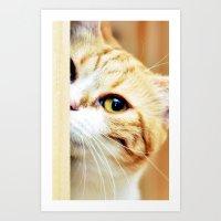 EMY MY LITTLE CAT Art Print