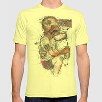 Knock Out Mens Fitted Tee Lemon SMALL