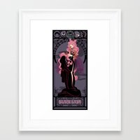 Black Lady Nouveau - Sailor Moon Framed Art Print
