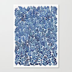 Indigo blues Canvas Print