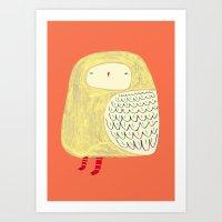 Cute Owl. Owl Art, Owl I… Art Print