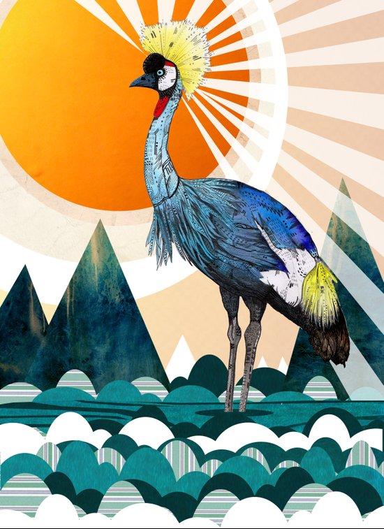 Crowned Crane Art Print