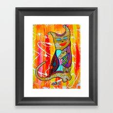 CAT OR TWO  Framed Art Print