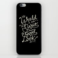 iPhone & iPod Skin featuring Big World 2 by Miss Holiday