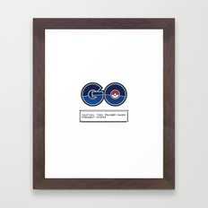 CAUTION: THIS TRAINER MAKES FREQUENT STOPS! Framed Art Print