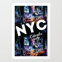 NEW-YORK (LIBERTEE CITY) Art Print