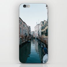 Empty boats in Venice iPhone & iPod Skin