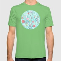 Cosmic Orb Mens Fitted Tee Grass SMALL