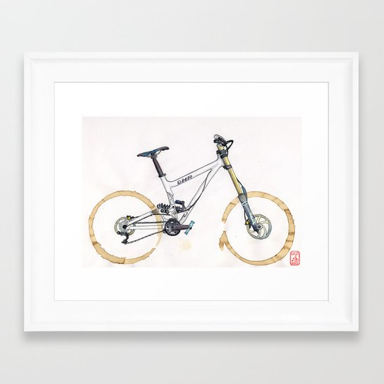 Coffee Wheels #11 Framed Art Print
