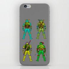 Ninja Turtle Butts H iPhone & iPod Skin