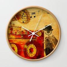 Monsieur Bone loves Music Wall Clock