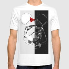 Mini Trooper vs. Vader Mouse Mens Fitted Tee White SMALL