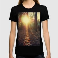 Winter in Canada Womens Fitted Tee Black SMALL
