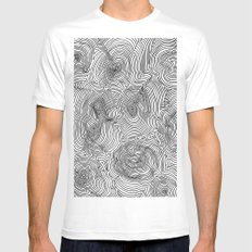 Contours White Mens Fitted Tee SMALL