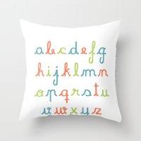 Abc... Rgb... Throw Pillow