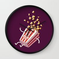 Popcorn Fall Wall Clock