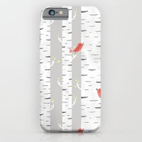 iPhone & iPod Case featuring Birch Birds by emilydove