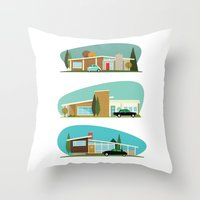 Hollywood Bungalows Throw Pillow