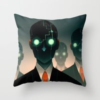 Microchip mind control Throw Pillow