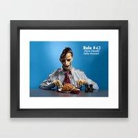 Zombie Etiquette : Table… Framed Art Print