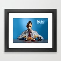 Zombie Etiquette : Table Manners Framed Art Print