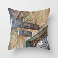 New Orleans Jazz Club Throw Pillow